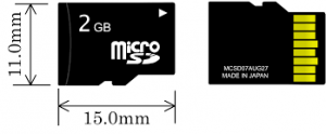 microSD card for MP3 Player